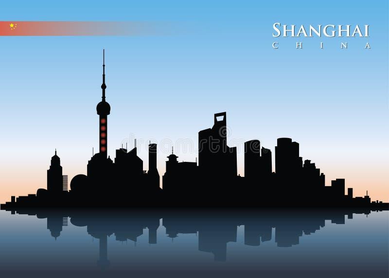 Horizon de Changhaï illustration libre de droits