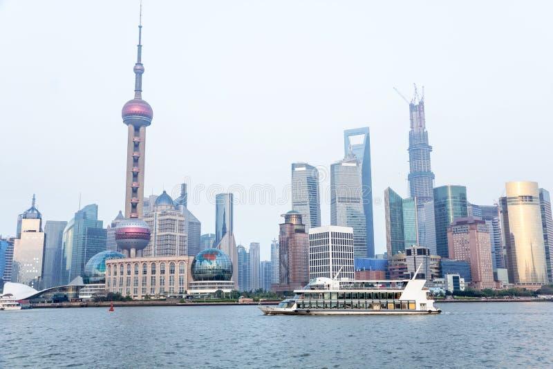 Horizon de Changhaï photographie stock libre de droits