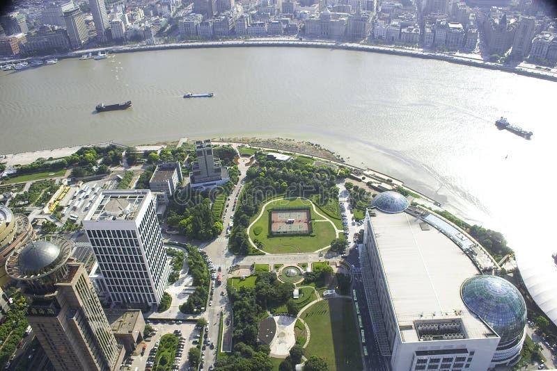Download Horizon De Changhaï Chine Avec La Rivière De Whangpoo Photo stock - Image du fleuve, jour: 56482648