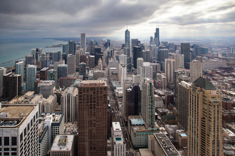 Horizon de Chicago image stock