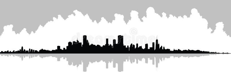 Horizon de Chicago illustration de vecteur