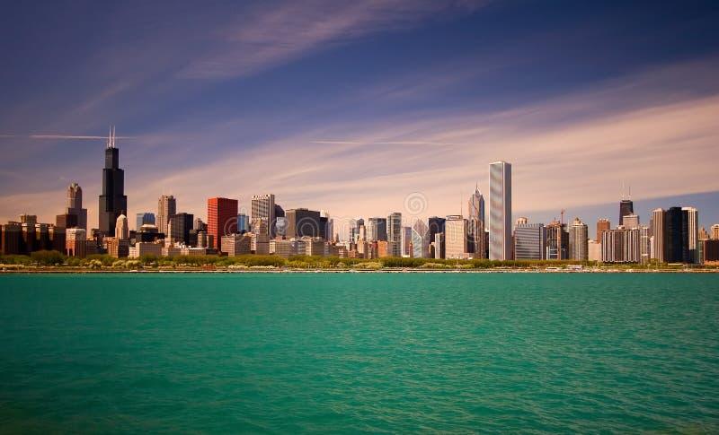 Horizon de Chicago photographie stock