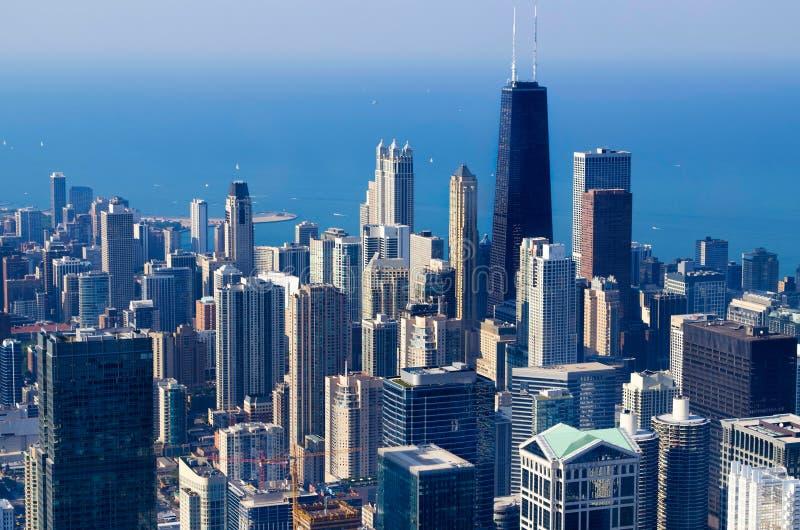 Horizon de Chicago - Etats-Unis image stock