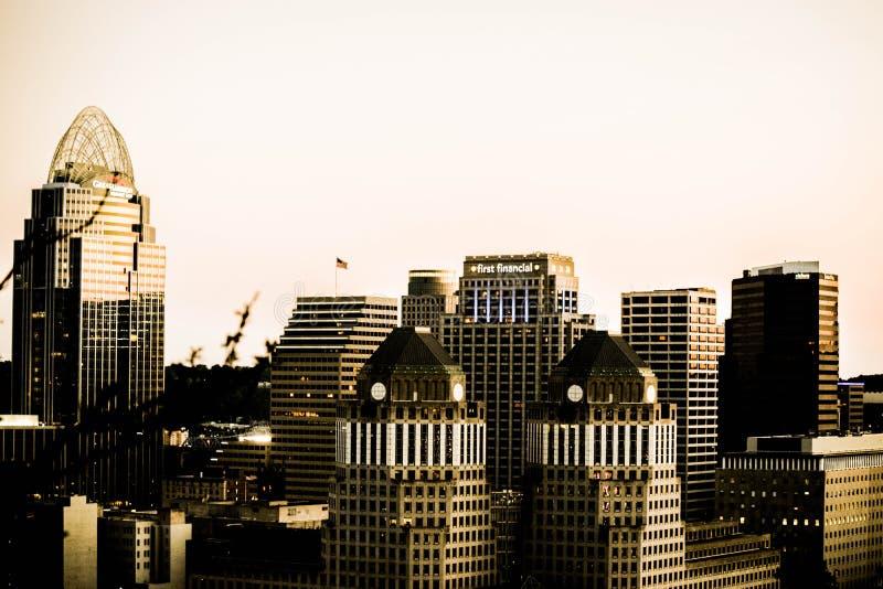 Horizon de Cincinnati photos libres de droits