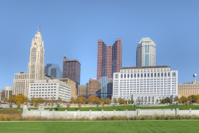 Horizon de Columbus, Ohio un temps clair photo stock