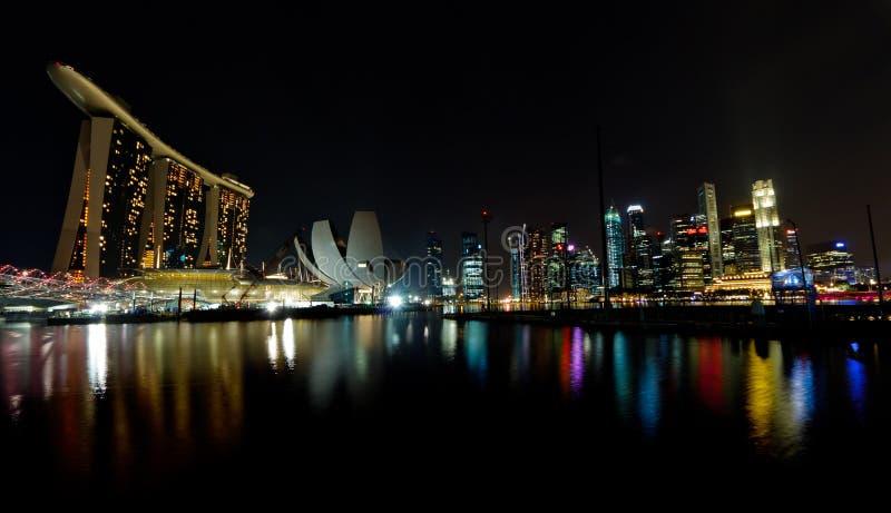 Horizon de compartiment de marina de Singapour photographie stock libre de droits