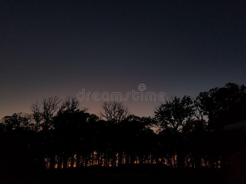 Horizon de coucher du soleil image libre de droits