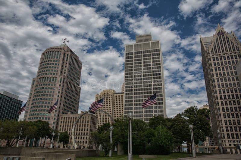 Horizon de Detroit images libres de droits