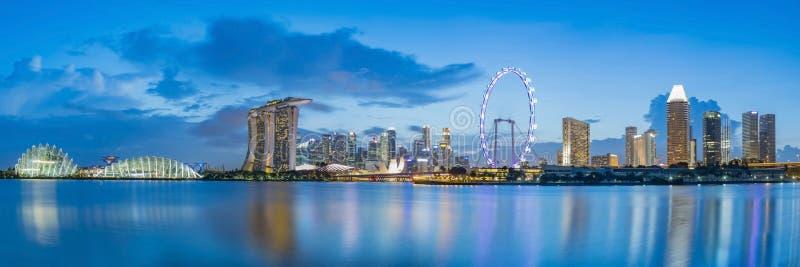 Horizon de district des affaires de Singapour image libre de droits