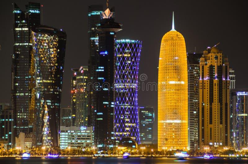 Horizon de Doha, Qatar, Moyen-Orient images stock