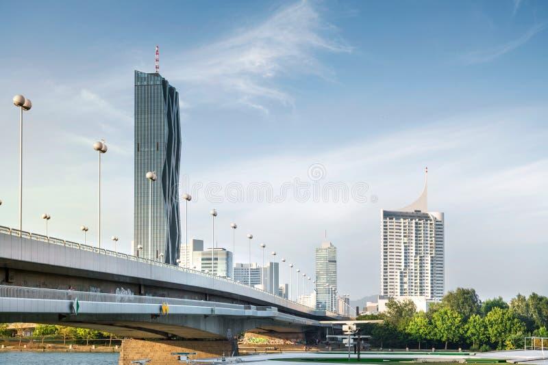 Horizon de Donaucity Vienne, Autriche photos libres de droits