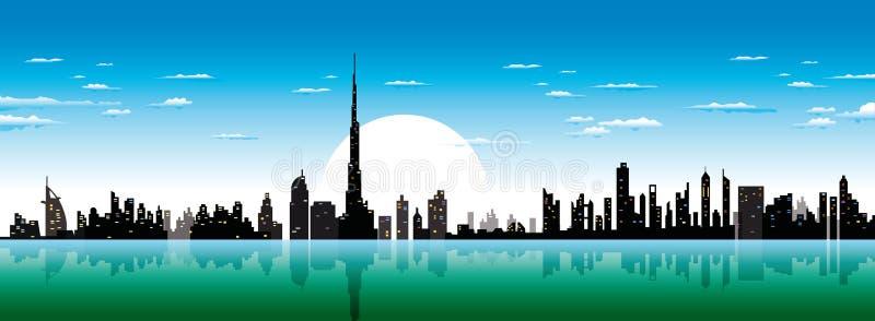 Horizon de Dubaï illustration libre de droits
