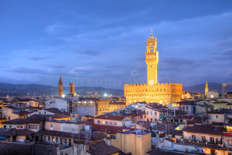 Horizon de Florence - Palazzo Vecchio, Italie image libre de droits