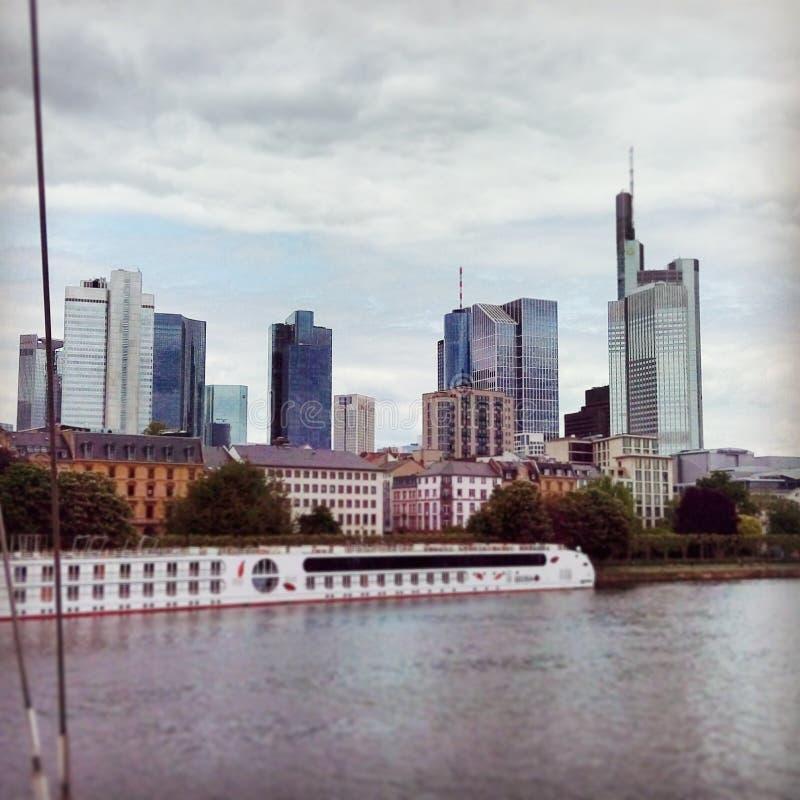 Horizon de Francfort photo libre de droits