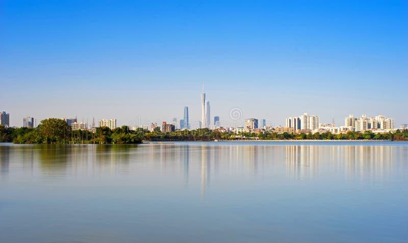 Horizon de gratte-ciel de Guangzhou photo libre de droits