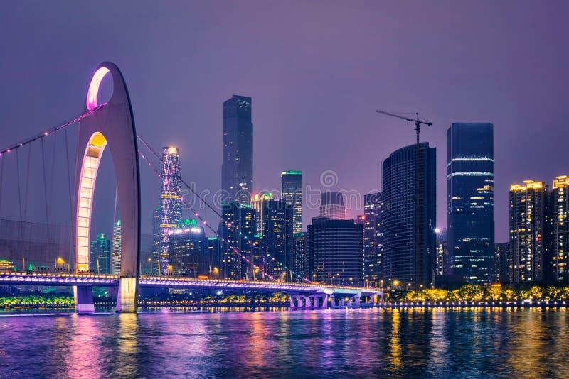 Horizon de Guangzhou Guangzhou, Chine photos stock