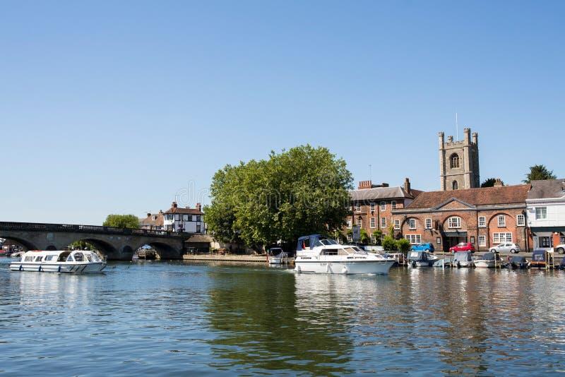 Horizon de Henley On Thames In Oxfordshire R-U avec la Tamise photo libre de droits
