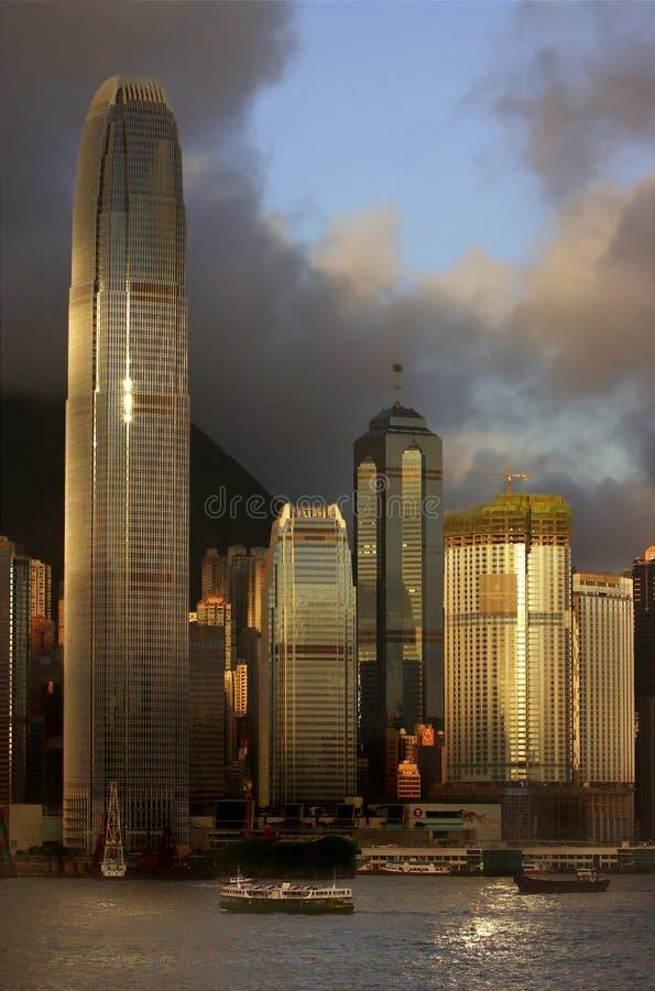 Horizon de Hong Kong photo stock