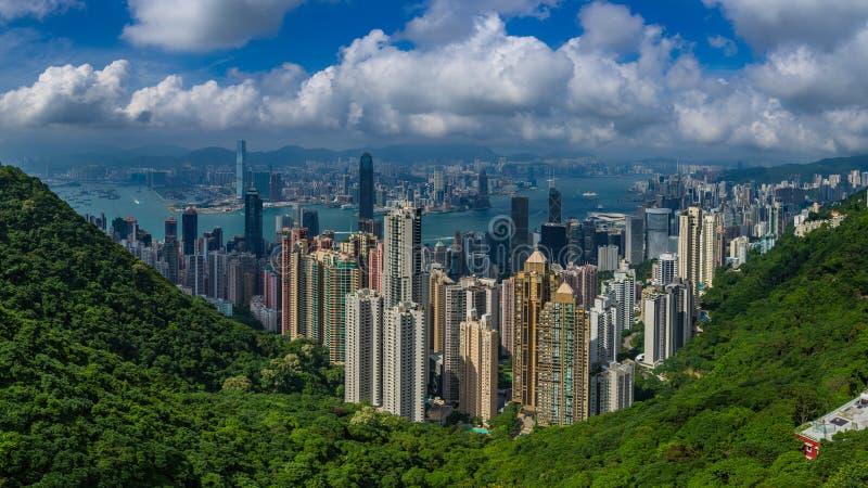 Horizon de Hong Kong photographie stock libre de droits