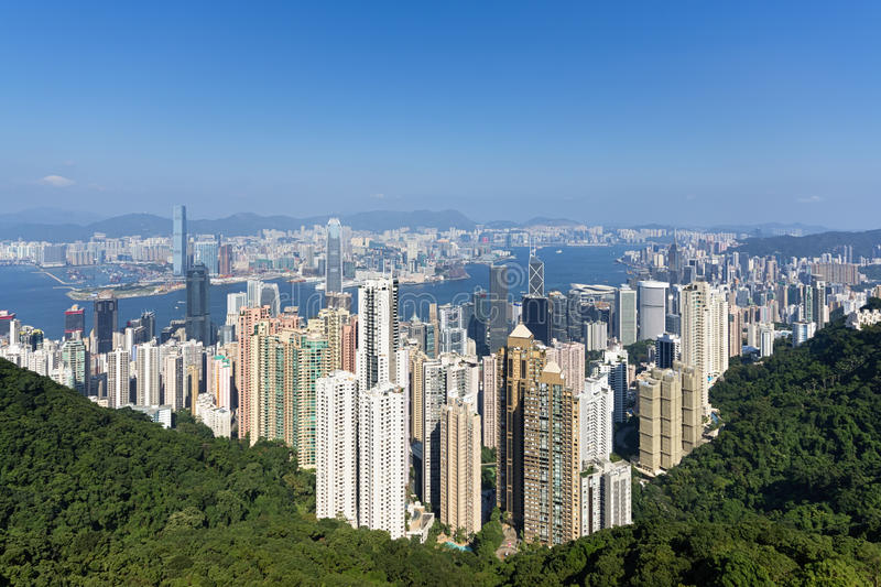 Horizon de Hong Kong images stock