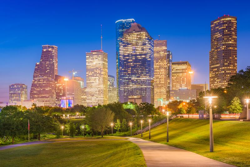 Horizon de Houston, le Texas, Etats-Unis images stock