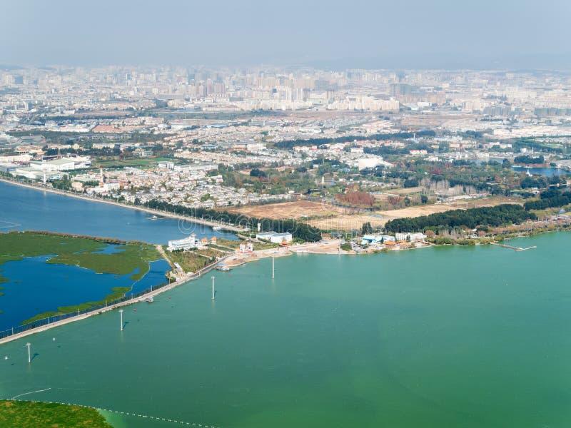 Horizon de Kunming, Chine photo stock