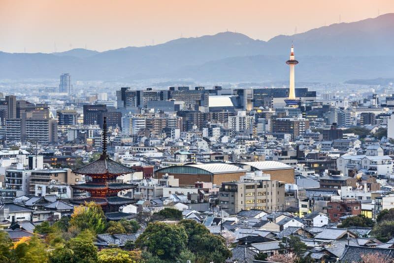 Horizon de Kyoto Japon images libres de droits