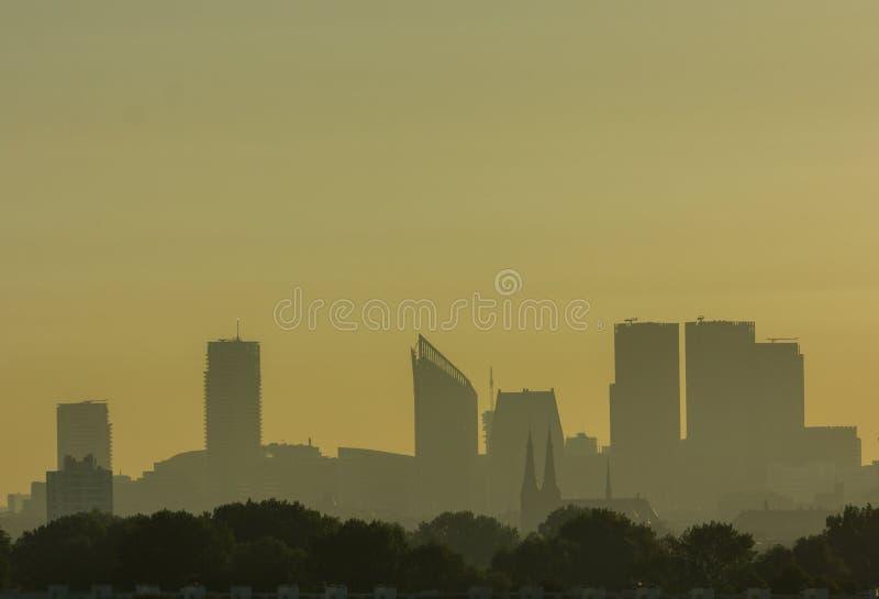 Horizon de la Haye au lever de soleil photo stock