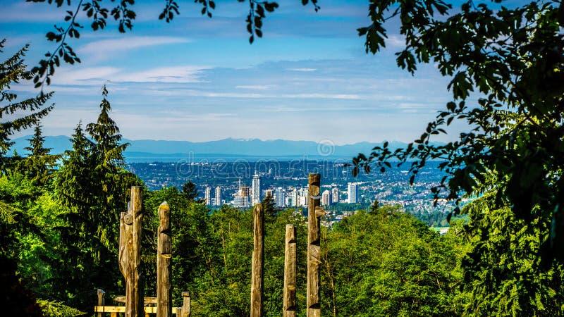 Horizon de la ville de Burnaby photo stock