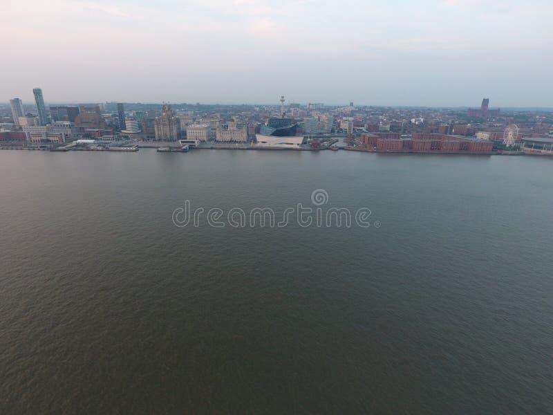 Horizon de Liverpool images stock