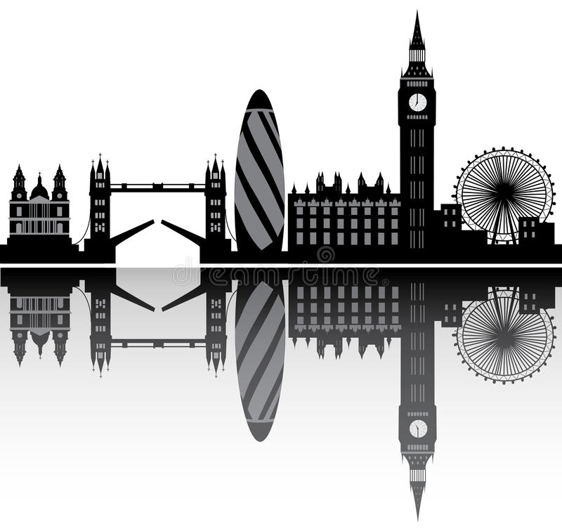 Horizon de Londres illustration stock