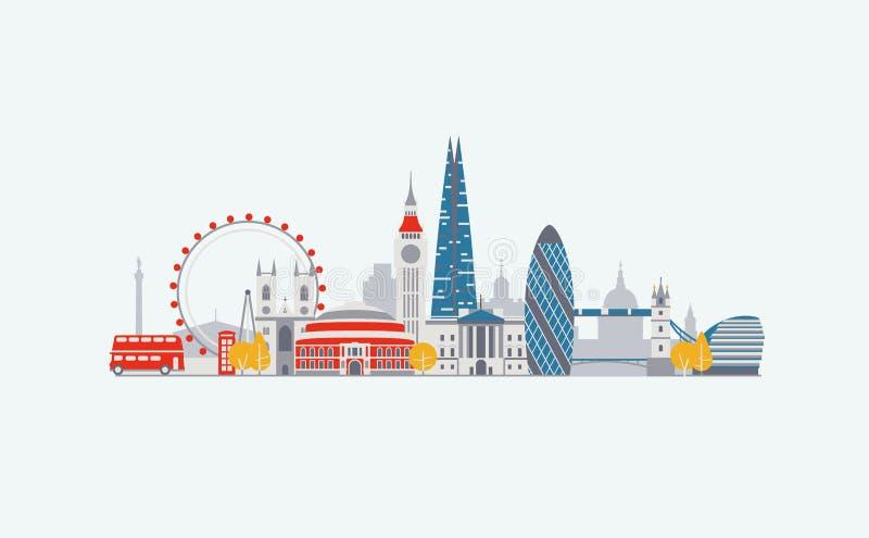 Horizon de Londres illustration de vecteur