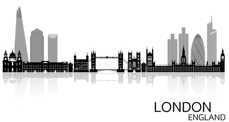 Horizon de Londres - Angleterre illustration stock