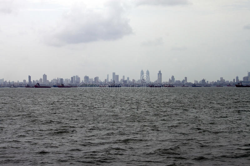 Horizon de mégalopolis Mumbai photo stock