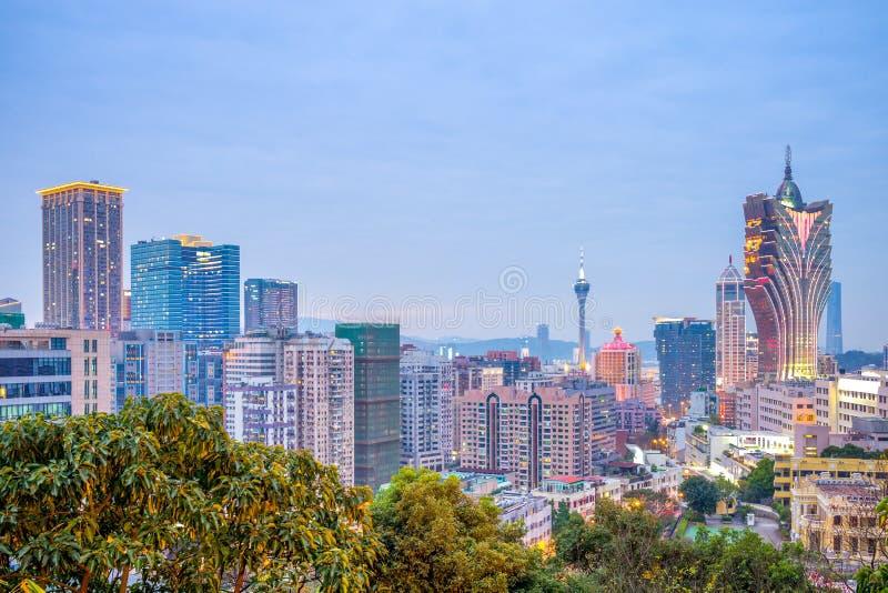 Horizon de Macao photo libre de droits