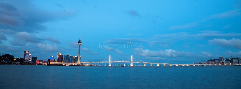 Horizon de Macao, Chine image stock