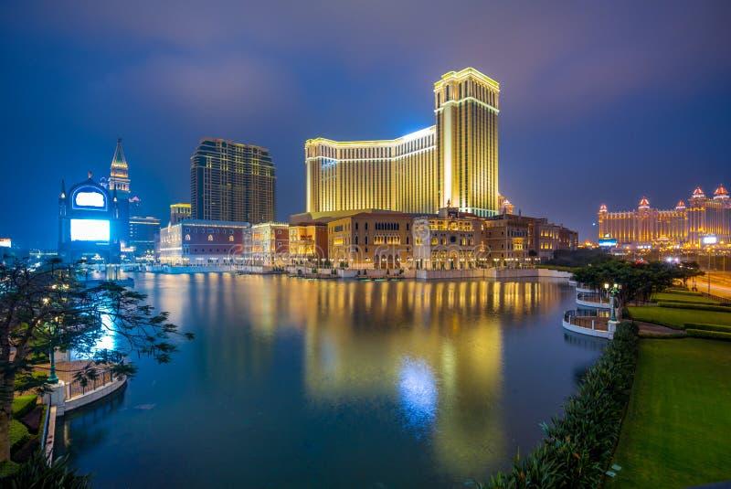 Horizon de Macao par l'eau photos libres de droits