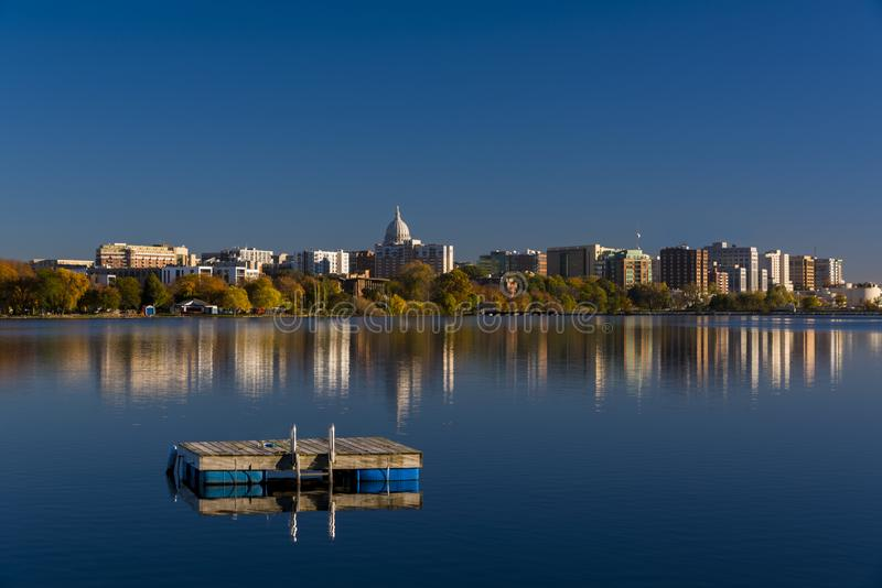 Horizon de Madison, le Wisconsin image libre de droits