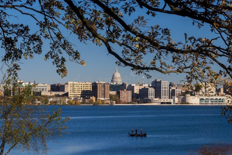 Horizon de Madison, le Wisconsin photographie stock