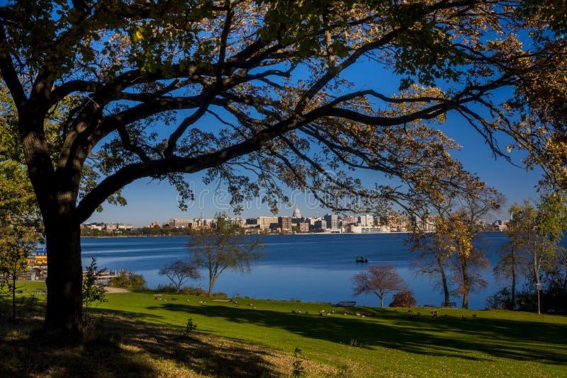 Horizon de Madison, le Wisconsin photos stock