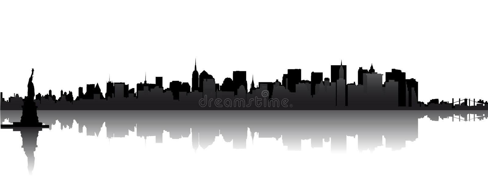 horizon de Manhattan illustration stock