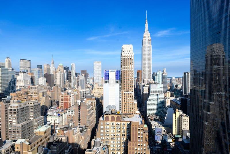Horizon de Manhattan, NYC, Etats-Unis photographie stock libre de droits
