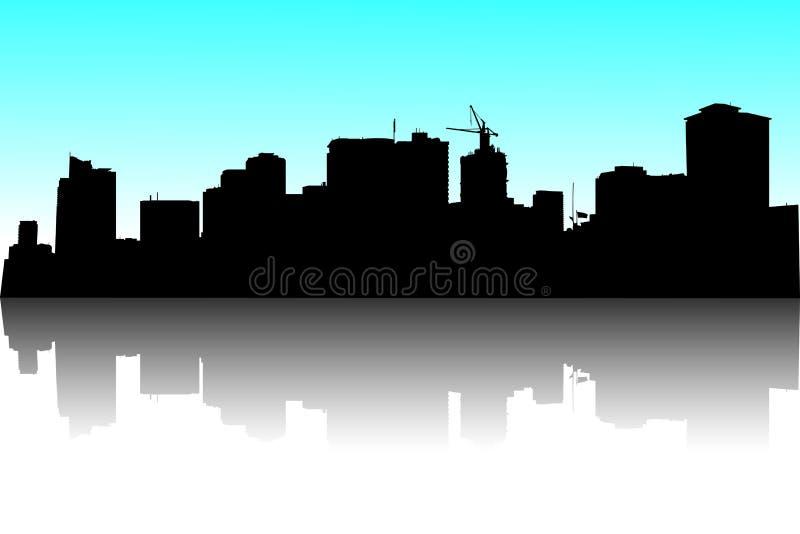 Horizon de Manille illustration de vecteur