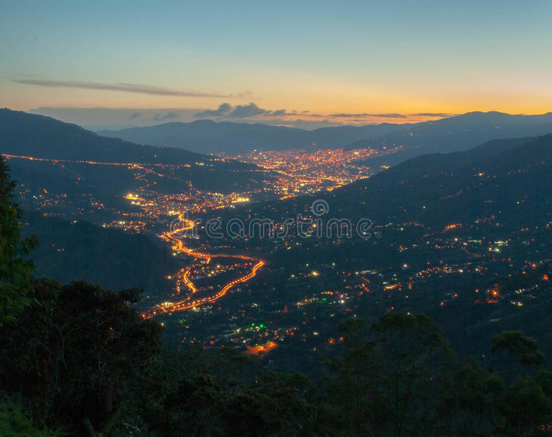 Horizon de Medellin photos stock
