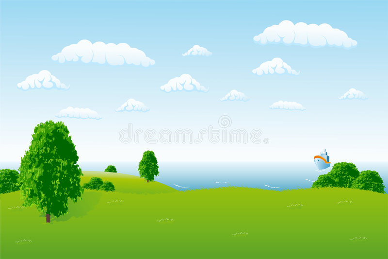 Horizon de mer illustration libre de droits