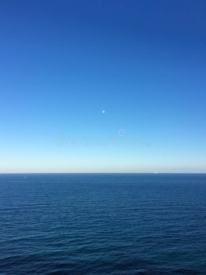 Horizon de mer chez Moraira Espagne image libre de droits