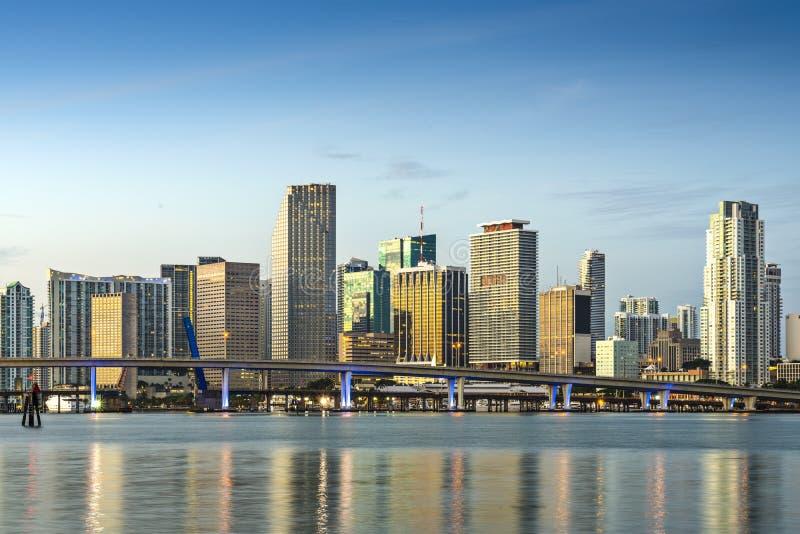 Horizon de Miami image libre de droits