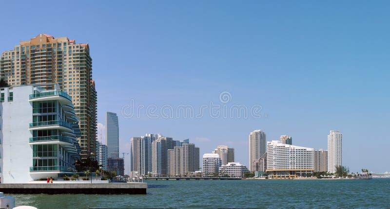 horizon de Miami photographie stock libre de droits