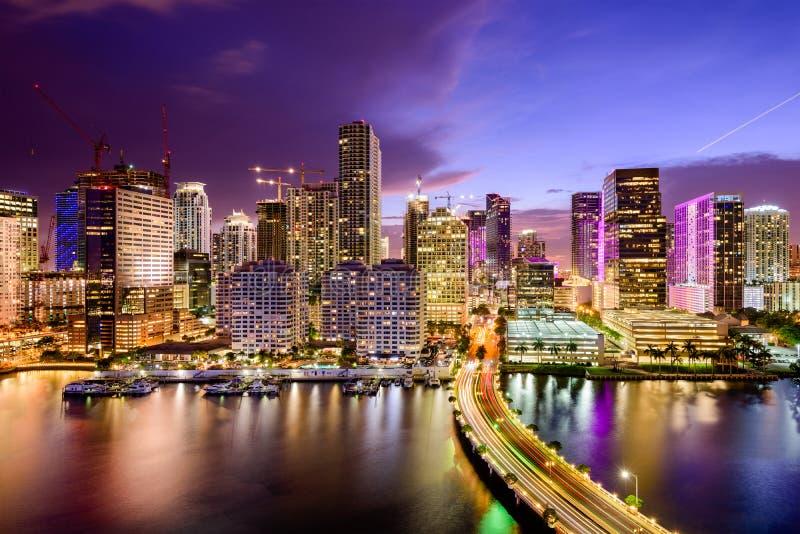 Horizon de Miami, la Floride image libre de droits