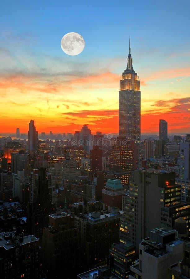 Horizon de Midtown de New York City photos libres de droits